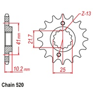 16T Front Sprocket For YAMAHA XT660R 04-16 (308)