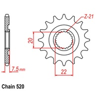 12T Front Sprocket Kit For HONDA CRF250 04-19 (1323)