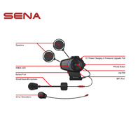 New Sena 10S Single Pack Motorcycle Bluetooth Intercom