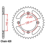 56T Rear Sprocket Steel For HONDA CR80R 80-02 (215)