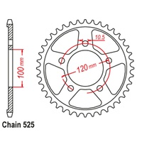 42T Rear Sprocket Steel For APRILIA RSV1000R 04-09 (702)
