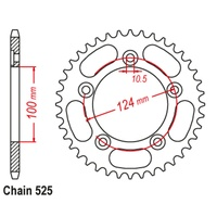 39T Rear Sprocket Steel For DUCATI 749 R USD OHLINS 2005 (744)