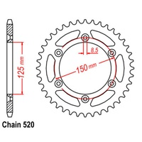 38T Rear Sprocket Steel For KTM 1290 SUPER DUKE R 14-18