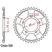 41T Rear Sprocket Steel For HONDA NSR250 MC18 88-91