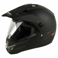 Nitro MX 630 SATIN BLACK Motorcycle Full Face Helmet-S
