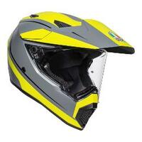AGV AX9 Pacific Road Motorcycle Helmet  M. Grey/Yellow Fluo/Black