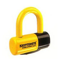Kryptonite Evolution Series 4 Disc Lock-Yellow