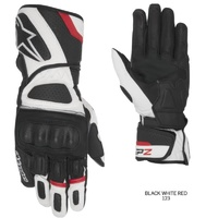 Alpinestars Mens SP-Z Waterproof Leather Gloves - White/Red