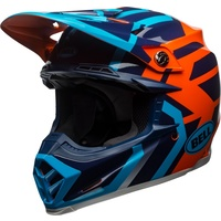 2018 Bell Moto-9 with MIPS District Gloss Blue/Orange