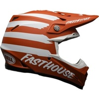 New Bell Moto-9 MIPS Motorcycle Helmet SE Fasthouse Signia Matte Red/White