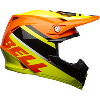 New Bell Moto-9 MIPS Motorcycle Helmet Prophecy  Yellow/Orange/Black