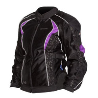 New Motodry Bella Ladies Jacket - Black Purple- 10