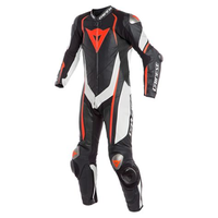 Dainese Kyalami One Piece Perforated Race Suit - Black/White/Red Fluro size:54
