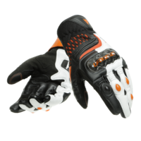 New Dainese Carbon 3 Short Motorcycle Gloves Black-White-Flame-Orange