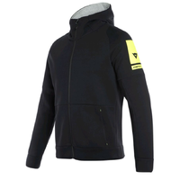 Dainese Full-Zip Hoodie 001 - Black size:2X-Large