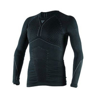 New Dainese D Core Thermo Long Sleeve Tee 604 Black/Anthracite