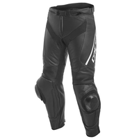 Dainese Delta 3 Leather Motorcycle Women's Pants - Black/Black/White size:46