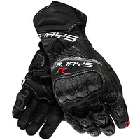 New Rjays Long Cobra 2 Carbon Mens Leather Gloves - Black
