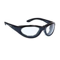 Ugly Fish RS0328 Glide Shiny Black Frame Clear Lens Goggles
