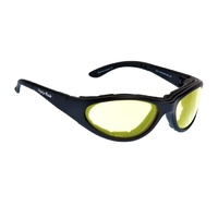Ugly Fish RS03282 Glide Matte Black Frame Yellow Lens Goggles