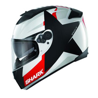 SPEEDR S2 TEXAS HELMET WHT BLK/RED XS