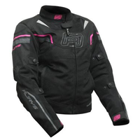 Rjays Swift II Ladies Motorcycle Textile Jacket - Black/Pink