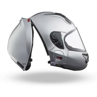 Vozz Strapless RS 1.0  - Silver Helmet for Motorcycles
