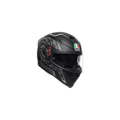 Agv K5 S Tornado Motorcycle Helmet Matte Black Silver